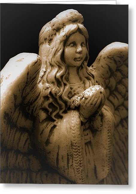 Another Angel Greeting Card by Jennifer Burley