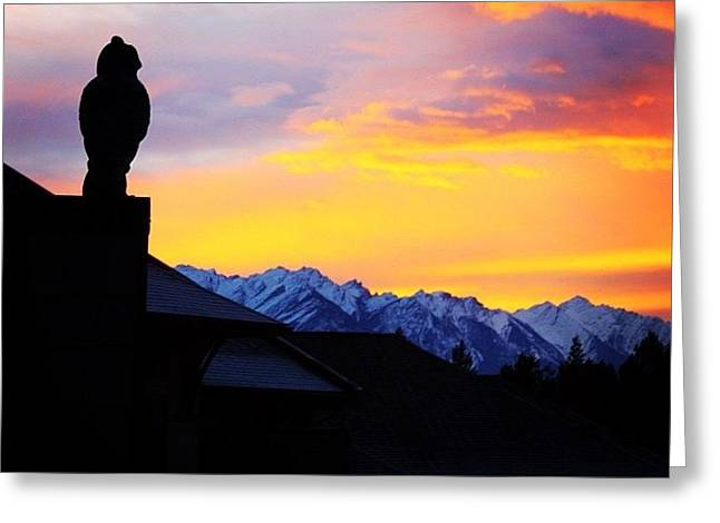 Another Awesome Bc Sunrise! #bc #canada Greeting Card