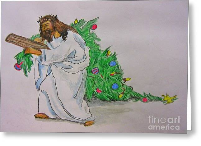Another Cross To Carry Greeting Card