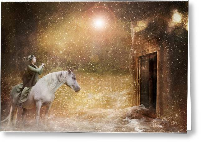 Another Door Opens Greeting Card by Pamela Hagedoorn