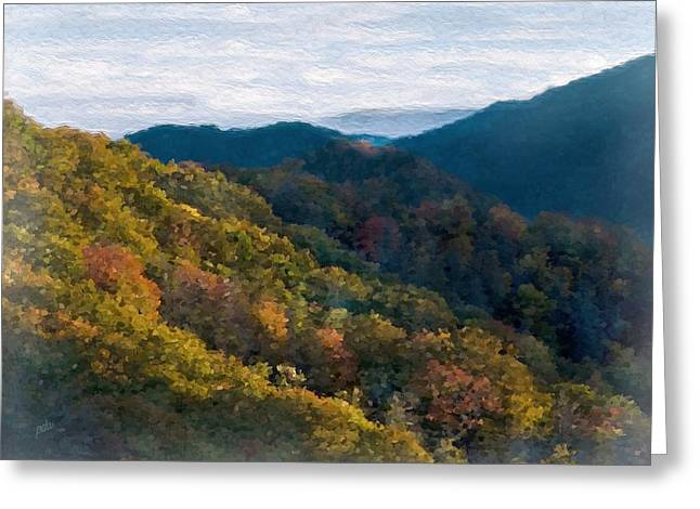 Another Fall Smoky Mountain Scenic Greeting Card by Philip White