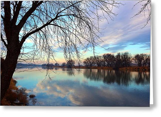 Greeting Card featuring the photograph Another Morning Reflection by Lynn Hopwood