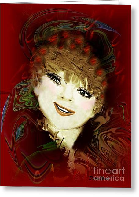 Another Pretty Face Greeting Card by Doris Wood