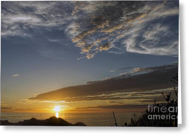 Another Socal Summer Sunset Greeting Card by Peggy Hughes