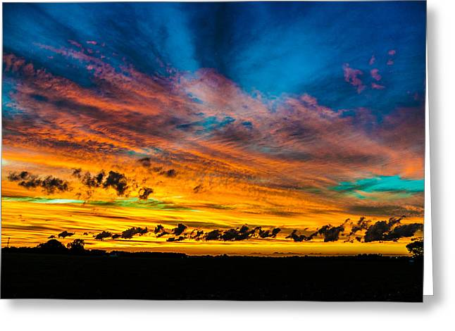 Greeting Card featuring the photograph Another Sunset by Louis Dallara
