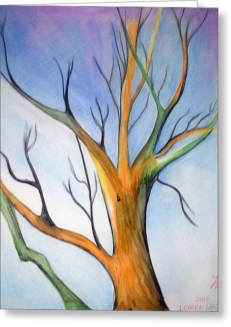 Another Tree Watercolor Greeting Card