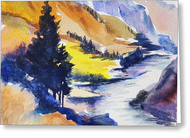 Another View Of The Truckee  Greeting Card by Therese Fowler-Bailey