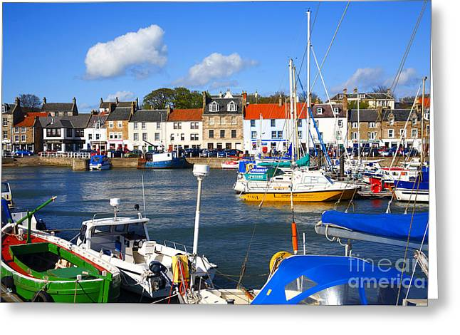 Anstruther Harbour Greeting Card