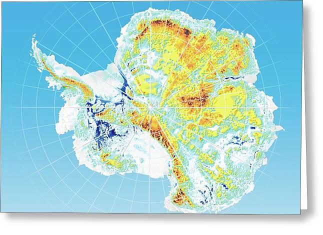 Antarctic Bedrock Greeting Card