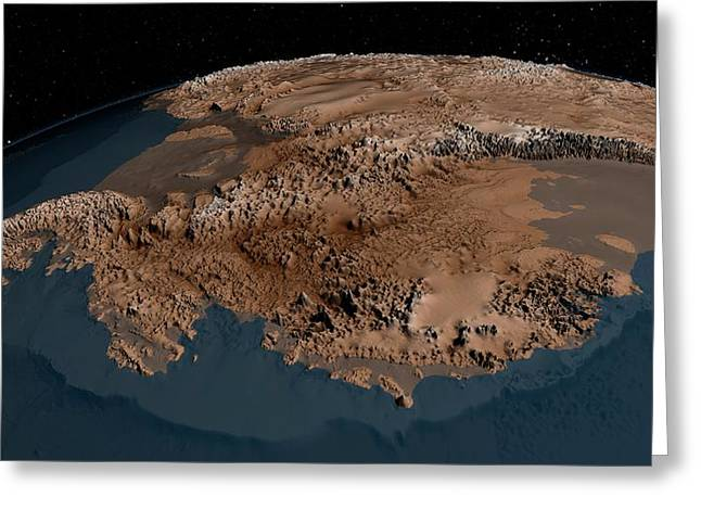 Antarctic Bedrock Greeting Card by Nasa/goddard Space Flight Center