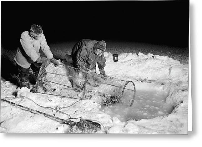 Antarctic Expedition Fishing Greeting Card by Scott Polar Research Institute