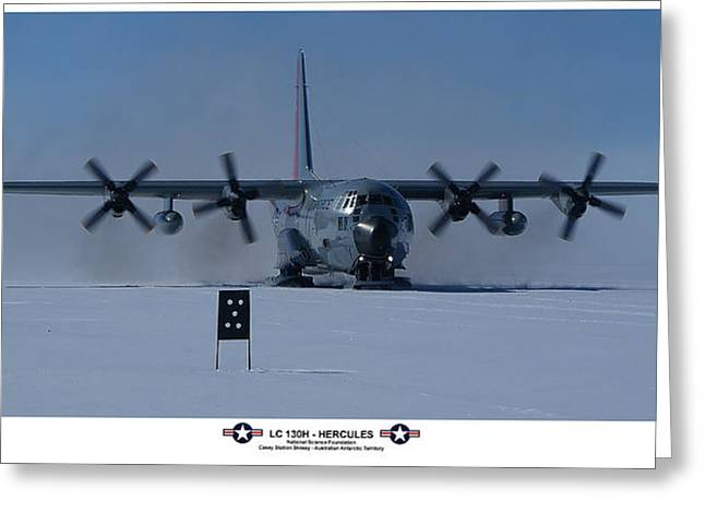 Antarctic Hercules Greeting Card by David Barringhaus