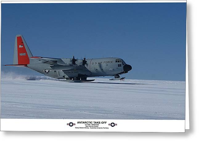 Antarctic Take-off Greeting Card by David Barringhaus