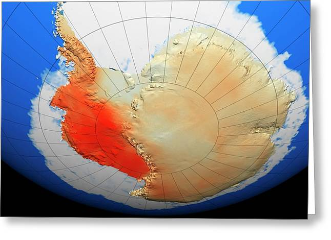 Antarctic Warming Trend Greeting Card by Nasa/goddard Space Flight Center Scientific Visualization Studio