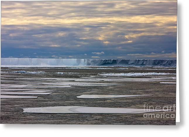 Antarctica Ross Ice Shelf Edge  Greeting Card