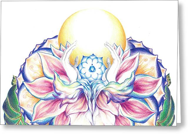 Antaryamin Oneness Art Greeting Card by Lydia Erickson