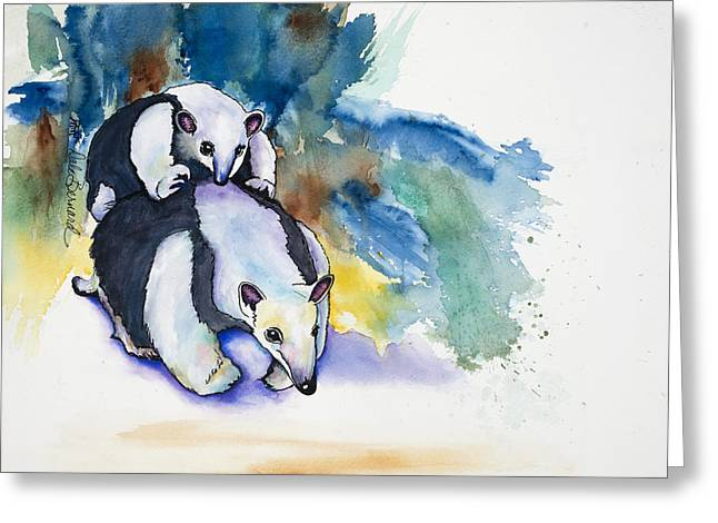 Anteater With Baby Greeting Card