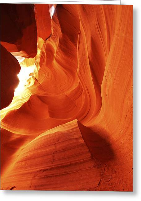 Greeting Card featuring the photograph Antelope Canyon In Winter Light 1 by Alan Vance Ley