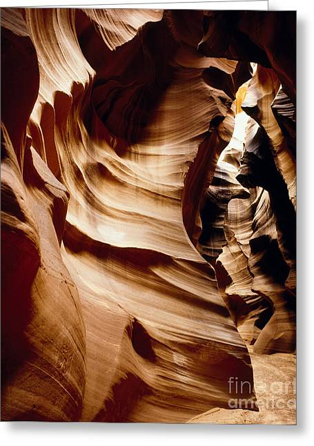 Antelope Cyn Cave Full View Greeting Card by Erik Poppke