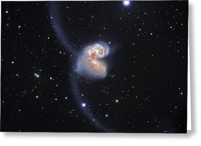 Antennae Colliding Galaxies Greeting Card by Robert Gendler