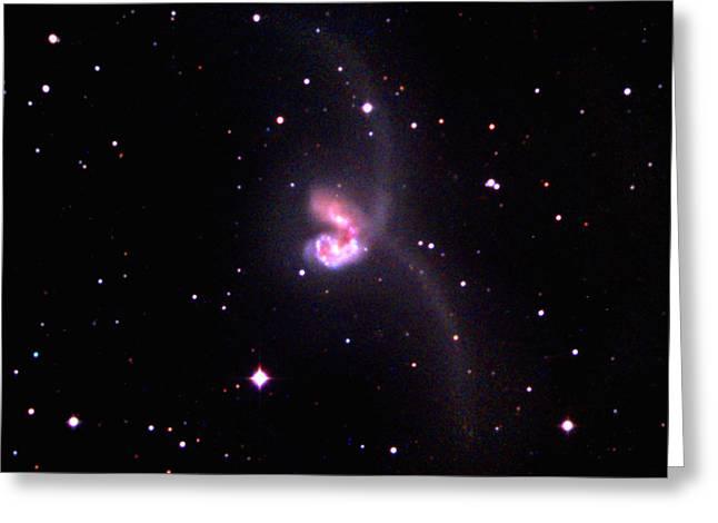 Antennae Galaxies Greeting Card by John Chumack
