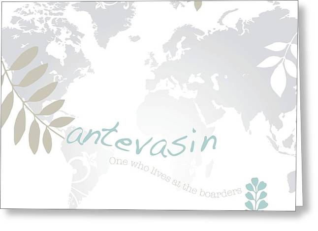 Antevasin Greeting Card by Cindy Greenbean