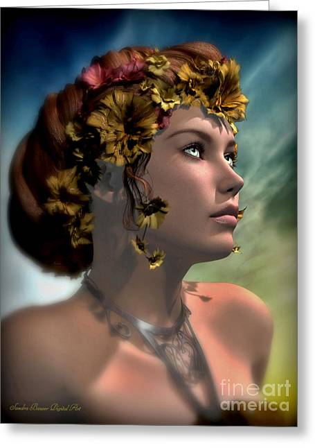 Antheia Greeting Card by Sandra Bauser Digital Art