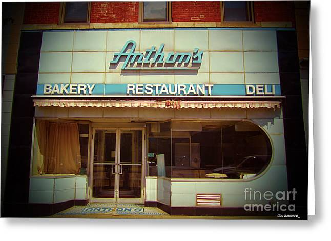 Anthon's Bakery Pittsburgh Greeting Card by Jim Zahniser