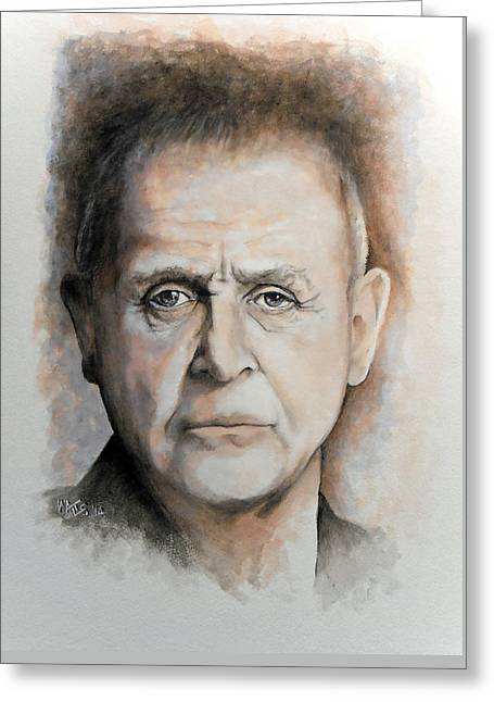 Anthony Hopkins Greeting Card by William Walts