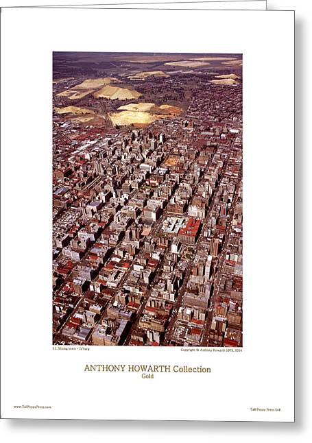 Anthony Howarth Collection - Gold - Mining Town - J'oburg Greeting Card