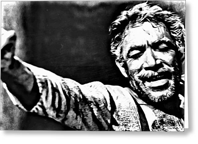 Greeting Card featuring the painting Anthony Quinn As Zorba by Florian Rodarte