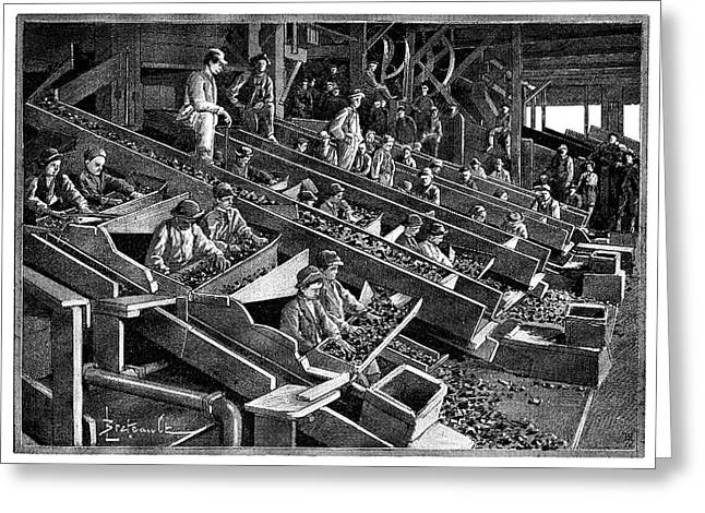 Anthracite Coal Industry Greeting Card by Science Photo Library