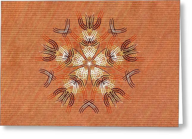 Anthropomorphic Mandala Greeting Card by Hakon Soreide