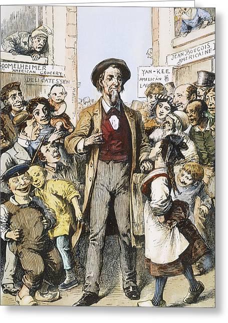 Anti-immigrants Cartoon Greeting Card by Granger