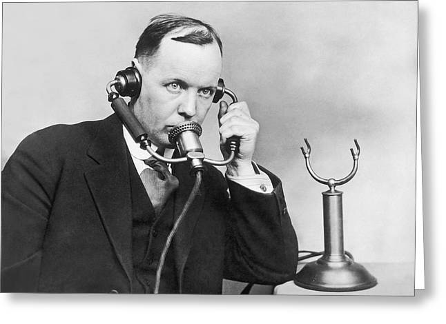 Anti Noise Telephone Greeting Card by Underwood Archives