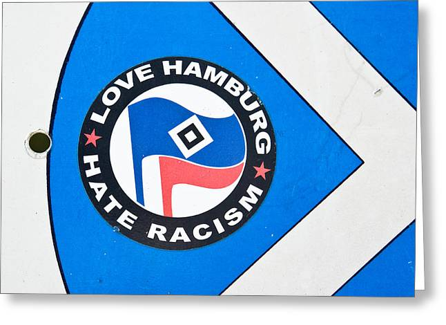 Anti-racism Sticker Greeting Card by Tom Gowanlock