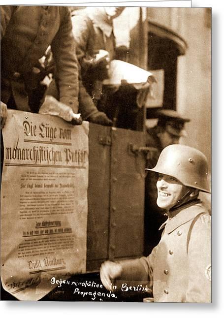Anti-revolution Propaganda, Berlin Germany 1920 Greeting Card by Litz Collection