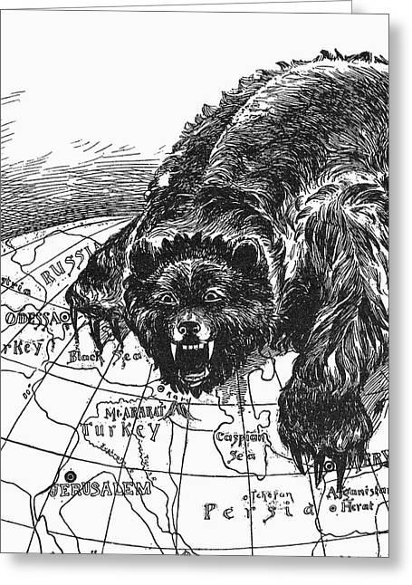 Anti-russian Cartoon, 1890 Greeting Card by Granger