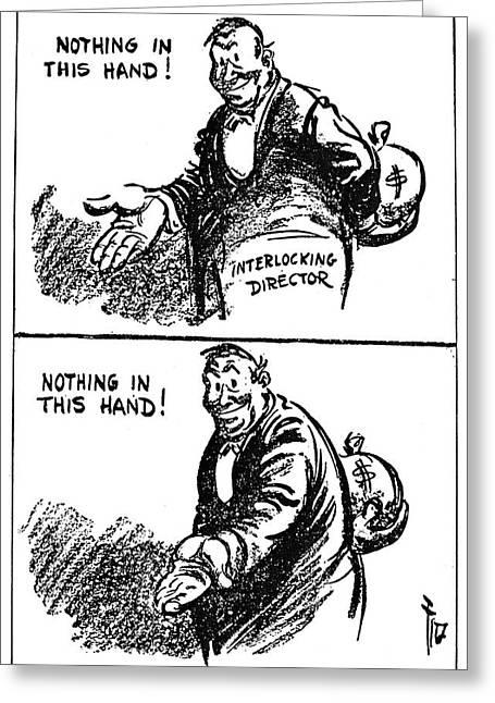 Anti-trust Cartoon, 1914 Greeting Card