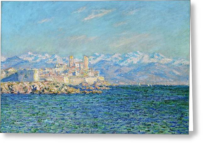 Antibes - Afternoon Effect Greeting Card by Claude Monet
