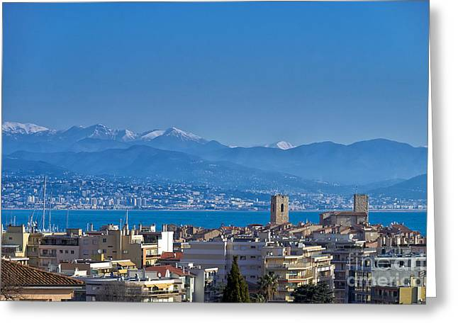 Antibes Greeting Card by Juergen Klust