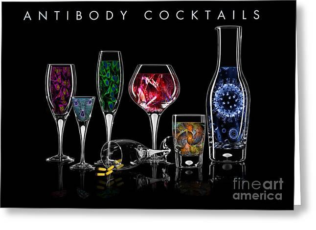 Antibody Cocktails Greeting Card