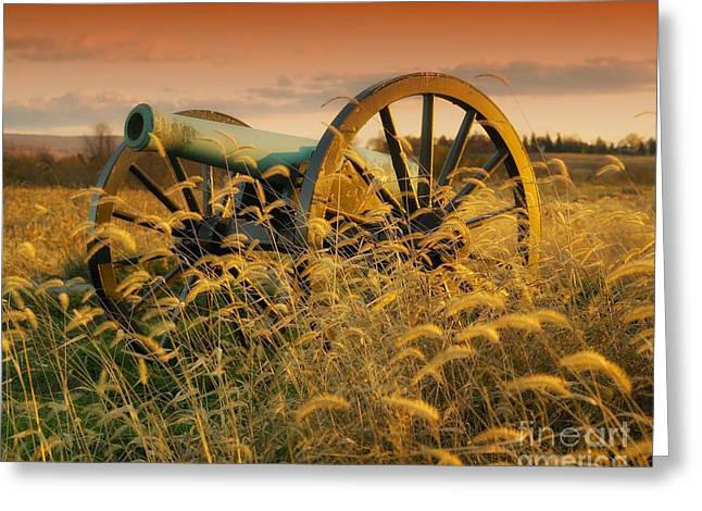 Greeting Card featuring the photograph Antietam Maryland Cannon Battlefield Landscape by Paul Fearn