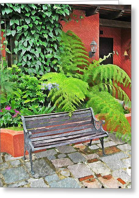 Antigua Bench Greeting Card