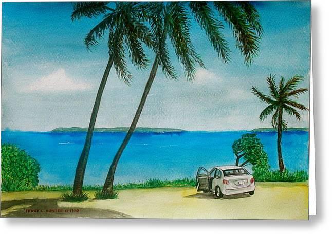 Antigua Greeting Card by Frank Hunter