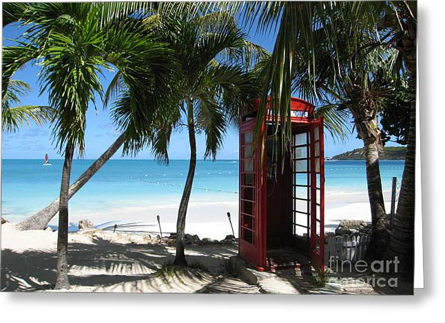 Antigua - Phone Booth Greeting Card