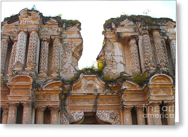 Antigua Ruins Greeting Card by Carey Chen