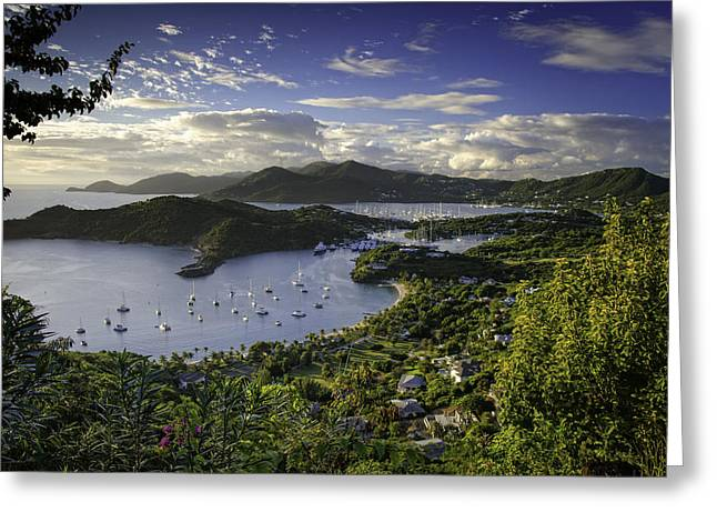 Antigua Sunset From Shirley Heights Greeting Card