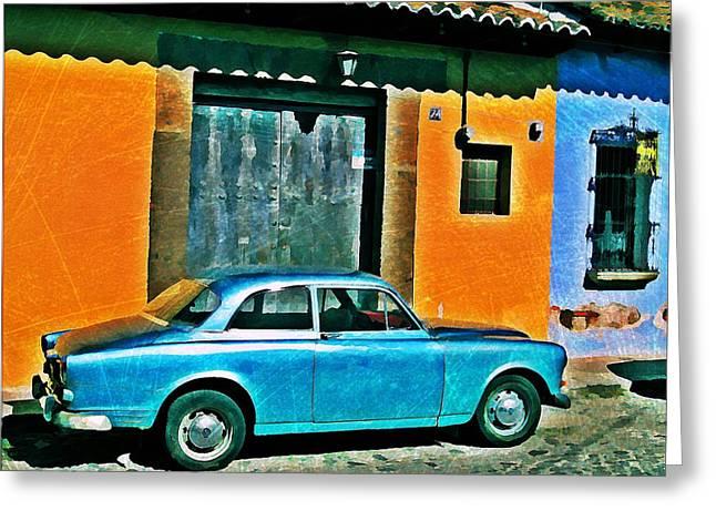 Antigua Volvo Greeting Card by Maria Huntley