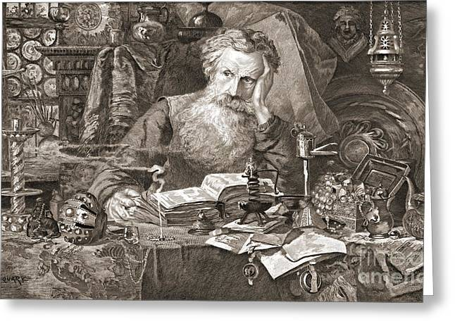 Antiquary 1901 Greeting Card by Padre Art